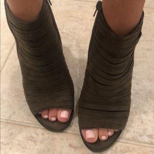 Peep toe booties